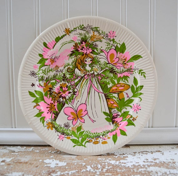 Vintage Bridal Shower Paper Plates And By PeachParlorVintage