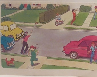 Vintage Pedestrian  Safety Posters
