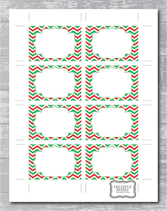 items similar to instant download christmas chevron editable pdf printable place cards escort