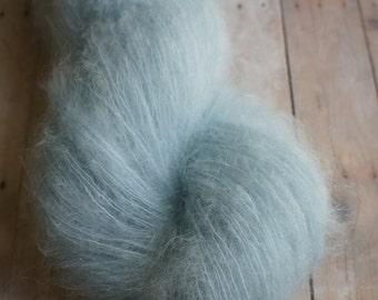 Beautiful Kid Mohair Yarn Hand dyed in Light Blue 320 yrds 034