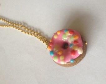Hand made kawaii donut necklace