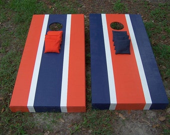 Regulation Cornhole Boards, Tailgating Bean Bag Game, 2 Boards, 8 Corn Bags
