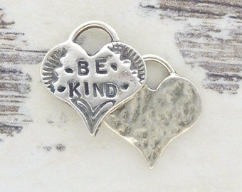 ONE Artisan Heart Charm - Be Kind