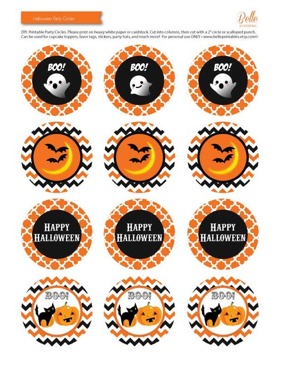 Halloween Cupcakes Toppers: Items Similar To Cupcake Toppers
