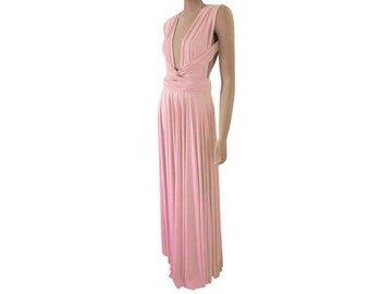 Long Convertible Bridesmaid Dress Maxi Wrap Infinity Dress
