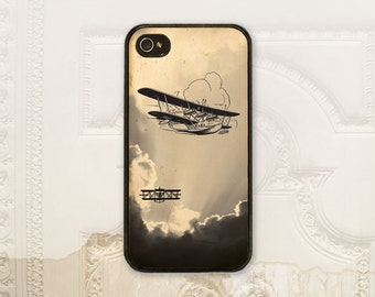 Vintage airplane cell phone case iPhone 4 4S 5 5s 5C 6 6+ Plus, Samsung Galaxy s3 s4 s5 s6 Biplane, Pilot, Military phone cover M6010