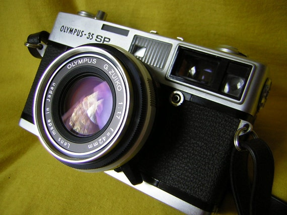 Beautiful olympus 35sp classic rangefinder film camera kit with valuable filter set