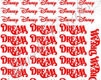 Disney Cruise Line Ship Names (Set of 20) - Wonder, Magic, Dream, Fantasy