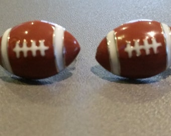 New Dome Epoxy Football Stud Post Earrings Sports