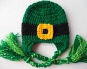 Leprechaun Hat - St. Patrick's Day Baby to Adult Sizes  - Lucky Irish Hat - Handmade Crochet - Ready to Ship