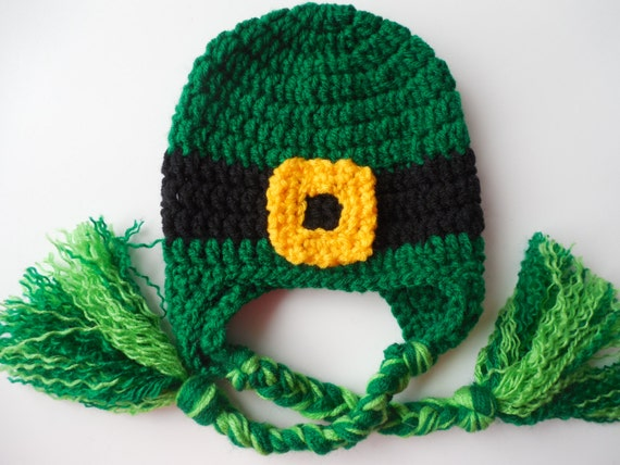 Crochet Baby Leprechaun Hat Pattern : Leprechaun Hat Adult St. Patricks Day Lucky Irish Hat