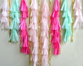 Mint and Pink Midi Tassel Backdrop - One Stylish Party
