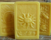 Beeswax Block, 6 to 8 oz., for show or use, pick Sun, Moon, or HoneyBees ~ natural beeswax block ~ for crafters ~