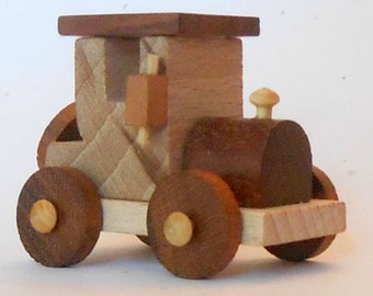 Small Vintage Collectible Wooden Car