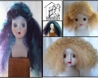 Handmade Mohair Doll Wigs
