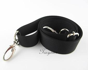 Adjustable Black Crossbody Bag Purse Replacement Strap - 3cm wide