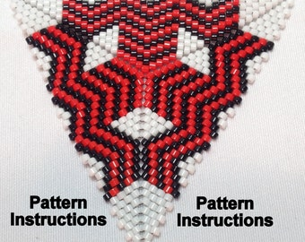 Bead Pattern Instructions: Peyote Triangle Pattern Tri6347