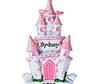 Personalized Pink Princess Castle Ornament