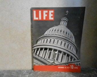 Nov. 29, 1937 Life Magazine