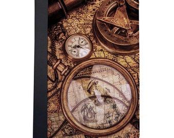 Vintage Nautical Map & Compass Folio Case For The iPad Mini