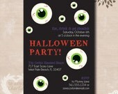 Eat, Drink and Get Ghoulish Halloween Party Invitations - Halloween Costume Party Printable Invitations