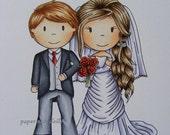 wedding couple digi