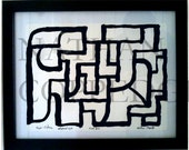 Metaphysical Style / The Twerk --- Abstract Calligraphy, Picasso Quality