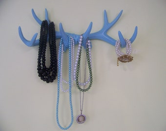 Jewelry Holder-Deer Antlers-Rustic Faux 10 Point-Hat, Scarves, Coat Rack-Man Cave-Necktie holder