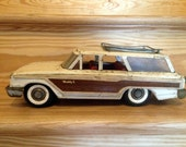 Buddy L Pressed Steel Woody Station Wagon, circa 1960s