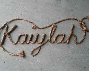 7 LETTER Name Western/Nautical  Rope Name Art