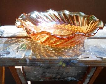 Depression Glass Golden Bowl
