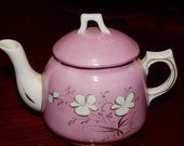 Antique Victorian Pink Luster Child's Teapot