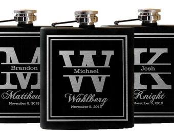 12 Personalized Flasks, Groomsmen Gift, Custom Flask, Engraved Flasks, Wedding Party Gift, Wedding Favors - 12 Flasks, Boyfriend Gift