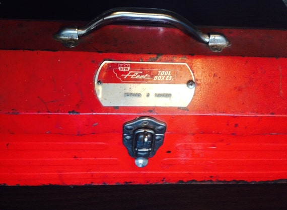 Vintage Fleet Tool box at owls nest candles on Etsy