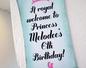 DIGITAL FILE Customized Party Direction / Welcome Signs (Princess / Cinderella Theme) x 2 pcs