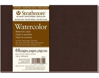 "Pro-Art Strathmore Softcover Watercolor Journal, 8"" x 5.5"", 48 pages"