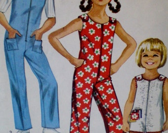 Vintage 1970s Sewing Pattern Simplicity 8768  Jiffy Jumpsuit in Two Lengths Size 6 ** Epsteam