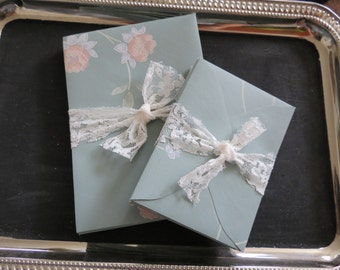 Floral up-cycled / recycled / repurposed wallpaper envelopes