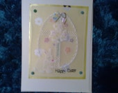 Hand made Easter Cards. Bunny Rabbit, Eggs, Cross, daffodil