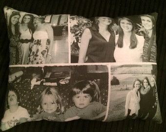 Custom 4 Photo Collage Pillow