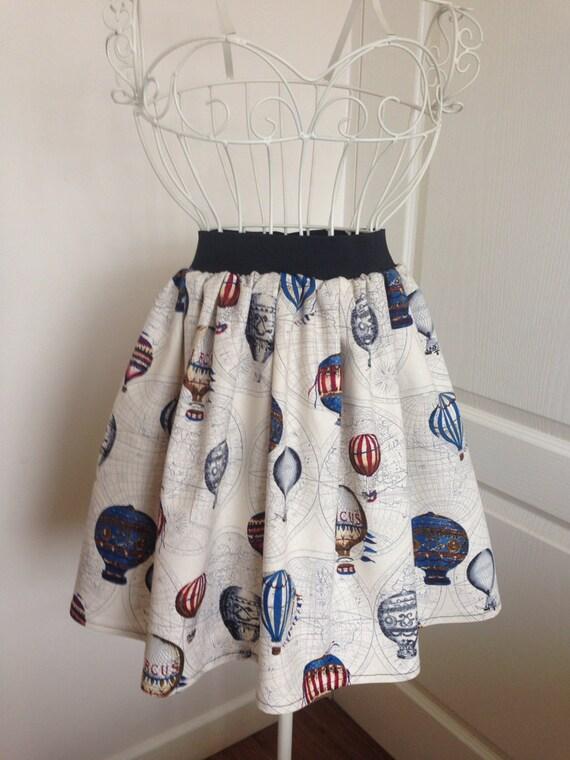 Hot Air Balloon skater style skirt