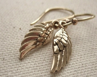 Bronze Angel Wing Earrings  - Simple Dainty Jewelry