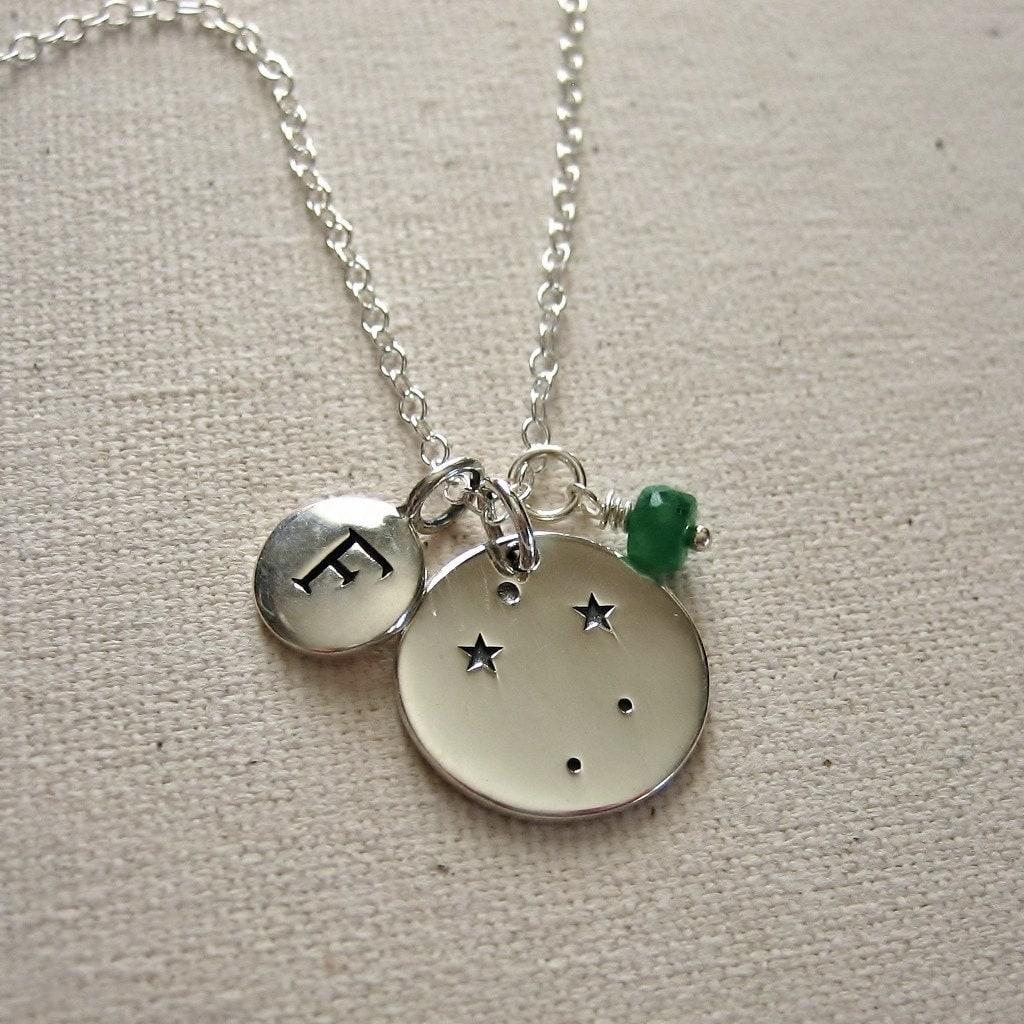 Taurus Constellation Necklace: Constellation Necklace Silver Zodiac Jewelry Aries Taurus