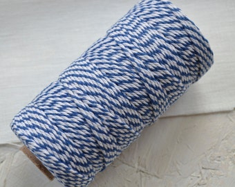 Bright Blue Cotton Bakers Twine