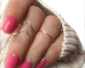 Rose Gold Knuckle Ring Set