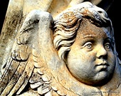 Sweet Cherub from Danville, Illinois Natural Tones Stone and Gothic