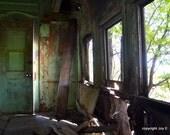 Inside of Vintage Abandoned Train Car