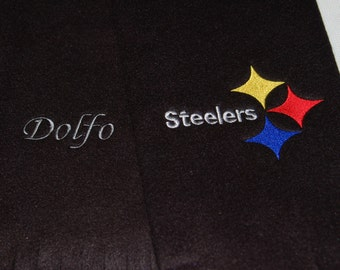 Fleece Scarf NFL Teams! Pittsburgh Steelers w/first name