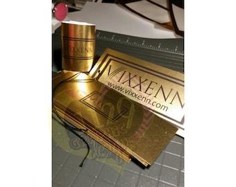 GOLD or SIVER FOIL Tags/Bundle Wraps