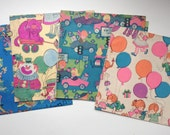 Lot of Vintage Retro 1960's Wrapping Paper for Birthday